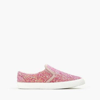 Girls' slide sneakers in glitter $68 thestylecure.com