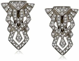Ben-Amun Jewelry Deco Tower Clip-On Earrings