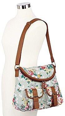 JCPenney Olsenboye® Washed Floral-Print Messenger Bag