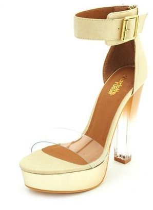 Charlotte Russe Clear Heel Ankle-Strap Pump
