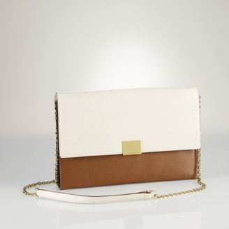 Ralph Lauren Leather Chain Shoulder Bag