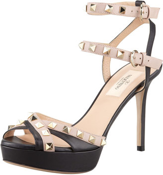 Valentino Studded Double Ankle-Strap Sandal