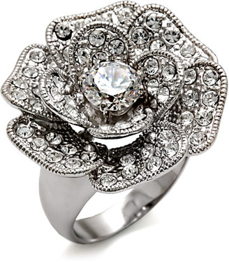 Michela Pavé Crystal Flower Ring