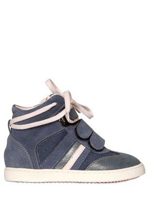 Mini Manhattan Canvas&suede Sneakers