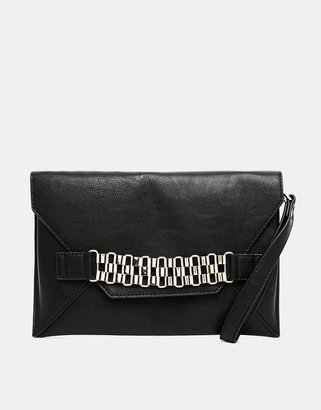Miss KG Tate Envelope Clutch with Chain Detail