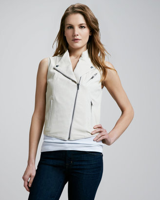 Theory Ford Leather Vest