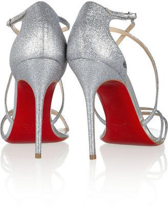 Christian Louboutin Gwynitta 100 glitter-finished leather sandals