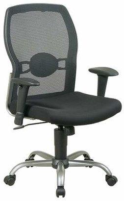 OSP Home Furnishings Screen Back Mesh Seat Chair Black