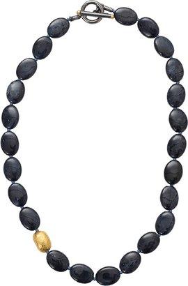 Yossi Harari Roxanne Dark Blue Dumortierite Necklace