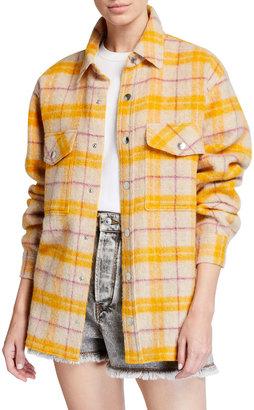 Etoile Isabel Marant Faxonli Plaid Shirt Jacket