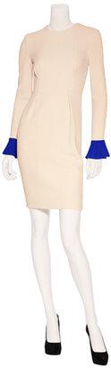 Roksanda Ilincic Blush Wool Crepe Sheath Dress