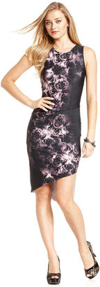 GUESS Dress, Sleeveless Floral-Print Sheath