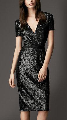 Burberry Sequin Crossover Dress