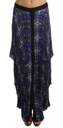 A.L.C. Eden Maxi Skirt in Electric Blue