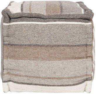 Artisan Weaver Scotts Mills Striped Wool Pouf