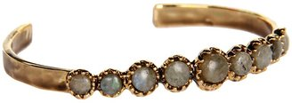 House Of Harlow Stone Top Multi Skull Cuff (14K Yellow Gold Plated) - Jewelry
