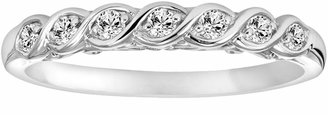 Vera Wang Simply Vera 14k White Gold 1/7-ct. T.W. Diamond Twist Wedding Ring