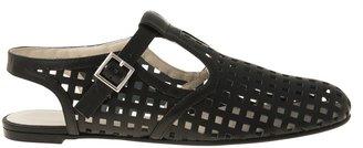 Jil Sander Navy Flat Open Shoe