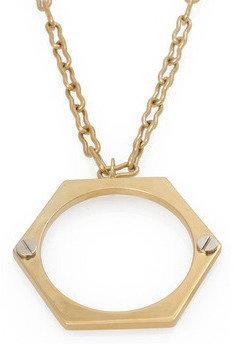 "Kelly Wearstler BOLT NECKLACE - gold with rhodium screws - 28"""
