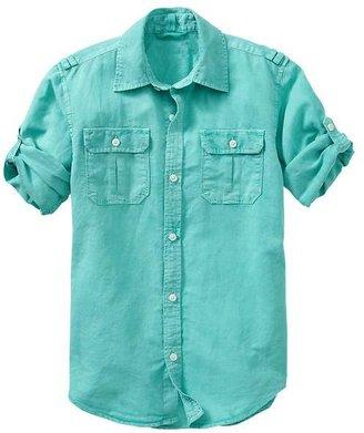 Gap Convertible garment-dyed shirt