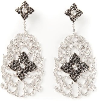 Elise Dray Diamond Floral Pave Earrings