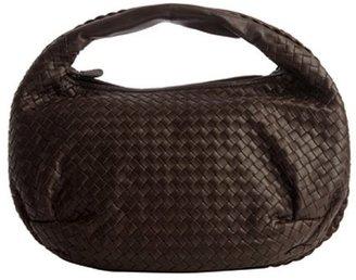 Bottega Veneta brown intrecciato leather 'Edoardo' hobo bag