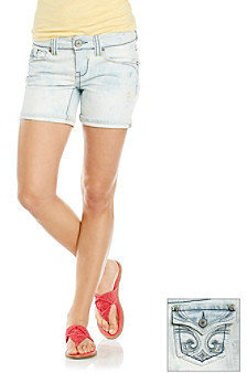 Hydraulic Juniors' Fleur-De-Lis Bling Pocket Short