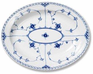 "Royal Copenhagen ""Blue Fluted Half Lace"" Oval Platter, Large"
