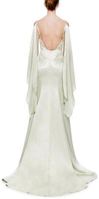 Zac Posen Double-Face Satin Gown