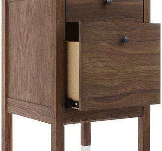 Crate & Barrel Ainsworth Walnut Single Filing Cabinet