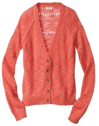 Junior's Pointelle Back Cardigan Sweater