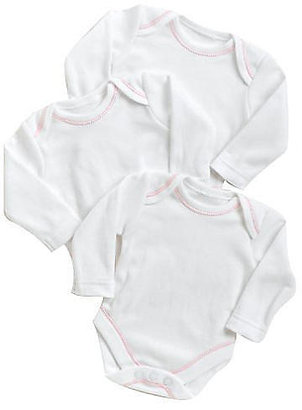 SpaSilk Girls' 3 Pack Long Sleeve Bodysuits