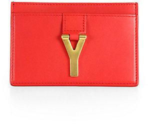Saint Laurent Ligne Y Leather Card Case