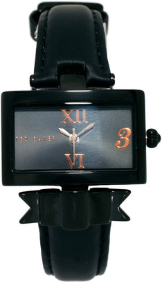 Ted Baker Rectangular Face Bow Strap Watch