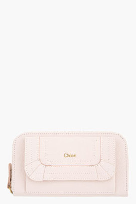 Chloé Nude Pink Grained Calfskin Paraty Continental Wallet