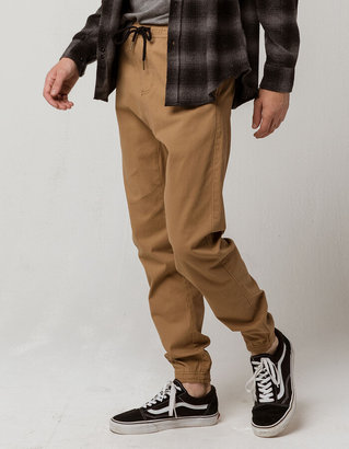 Charles And A Half Tan Mens Twill Jogger Pants