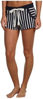 Juicy Couture Harbor Stripe Slub Jersey Short (Regal Stripe) - Apparel