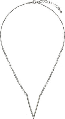 Topshop Rhinestone V Chain Necklace