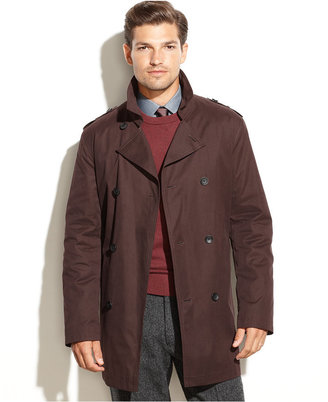 Kenneth Cole New York Coat, Rance Cotton Raincoat $350 thestylecure.com