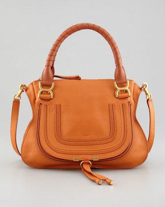 Chloé Marcie Medium Satchel Bag, Orange