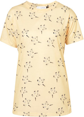 J.W.Anderson **Cat Print T-shirt bY for Topshop
