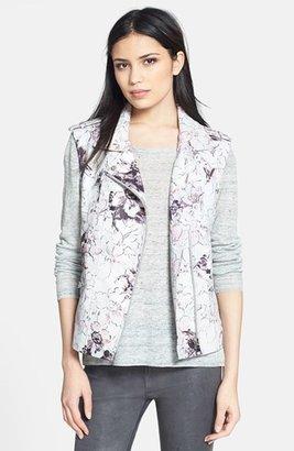 Rebecca Taylor Floral Print Leather Vest