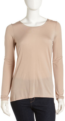 Robert Rodriguez Twisted Back Tee, Camel