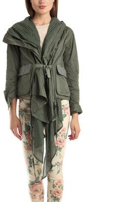 Nicholas K Studded Harkin Jacket in Algae