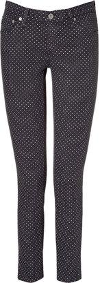 Adriano Goldschmied Black Polka Dot Ankle Jeans