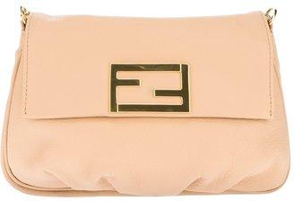 Fendi logo plaque shoulder bag
