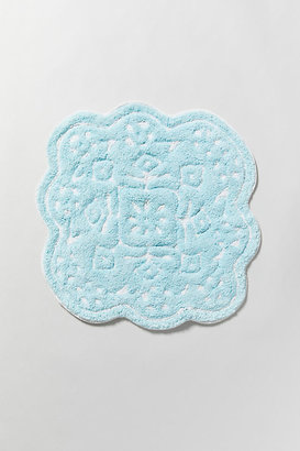 Anthropologie Mosaic Tile Bath Mat By in Blue