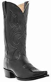 "Dan Post Boots Men's 13"" Saddle Brand Snip ToeCowboy Boots"