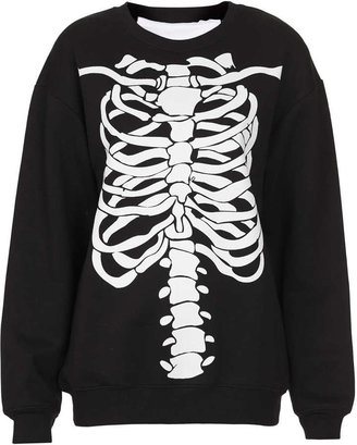 Topshop Skeleton Sweat By Tee And Cake