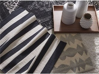 Crate & Barrel Anice Black Hand Knotted Oriental Rug